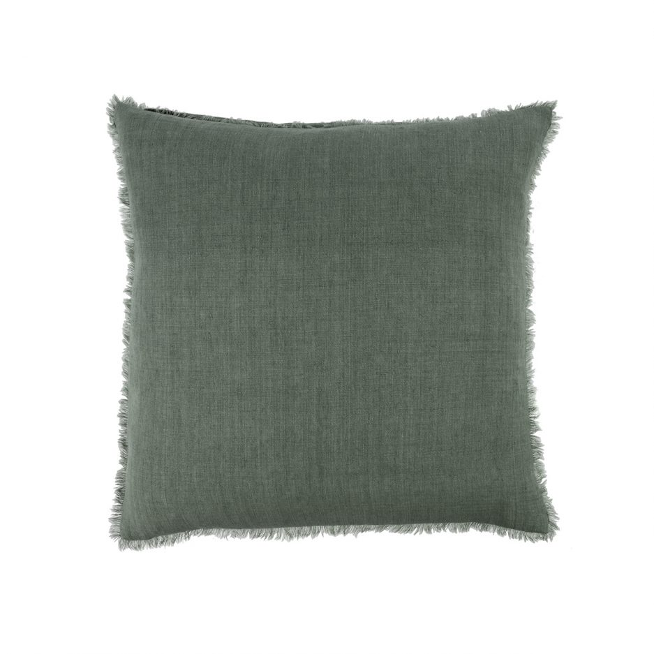 Coussin lin euro sauge