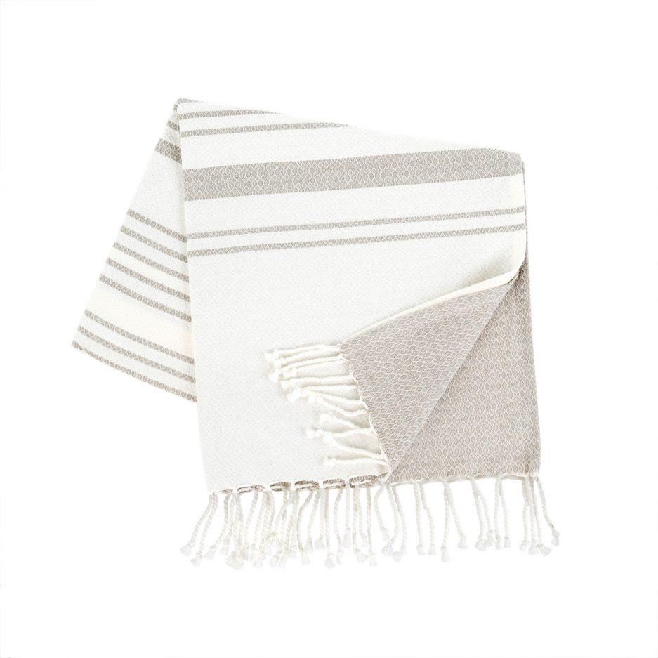Serviette de bain grise pâle