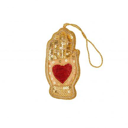 Coeur sur la main - Ornement