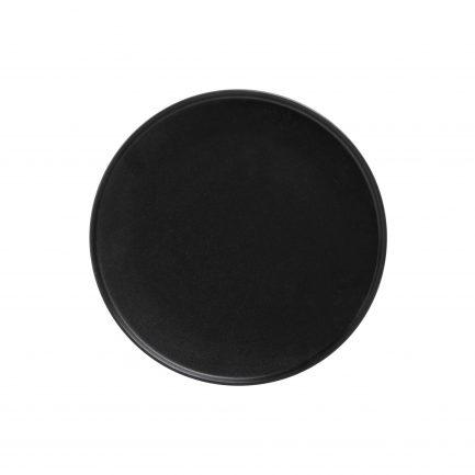 Assiette plate noire - grande
