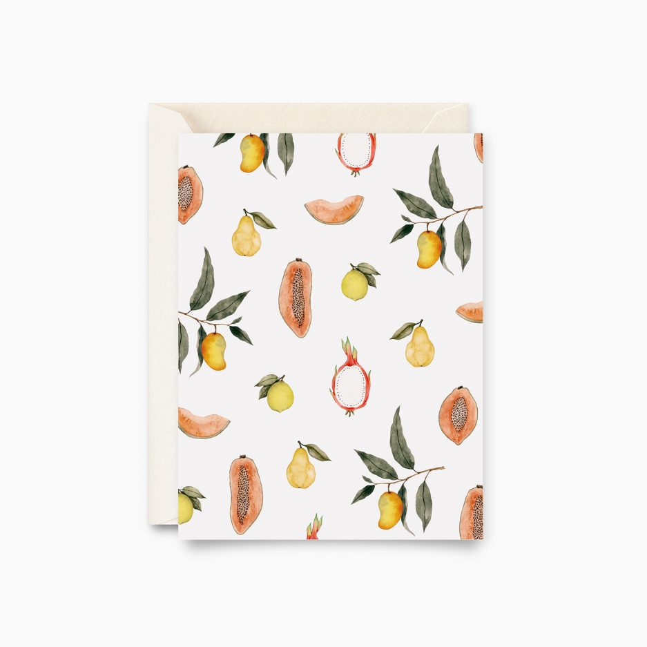Carte Fruits tropicaux