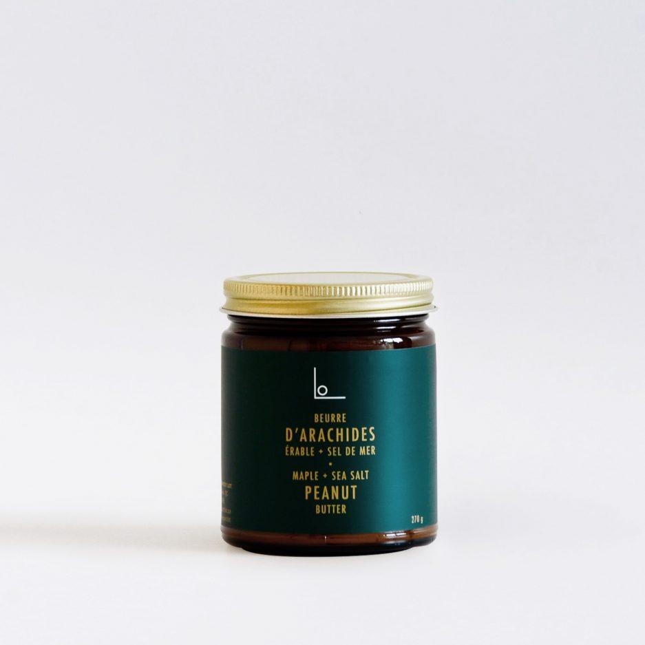 Beurre d'arachides érable et sel de mer