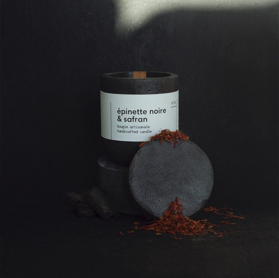 Épinette noire & safran - Chandelle