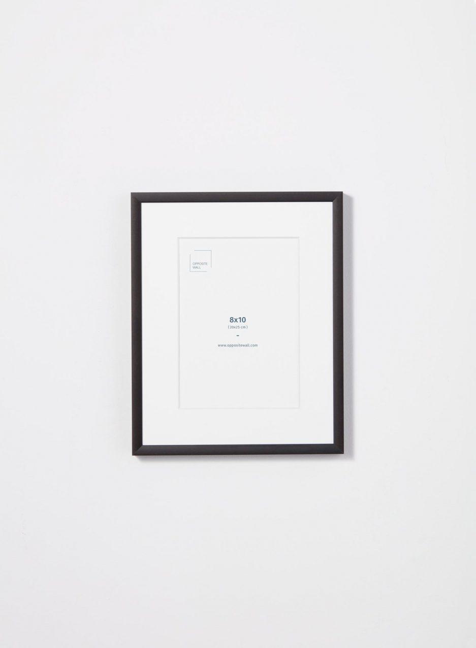 Cadre 8 x 10 métal noir