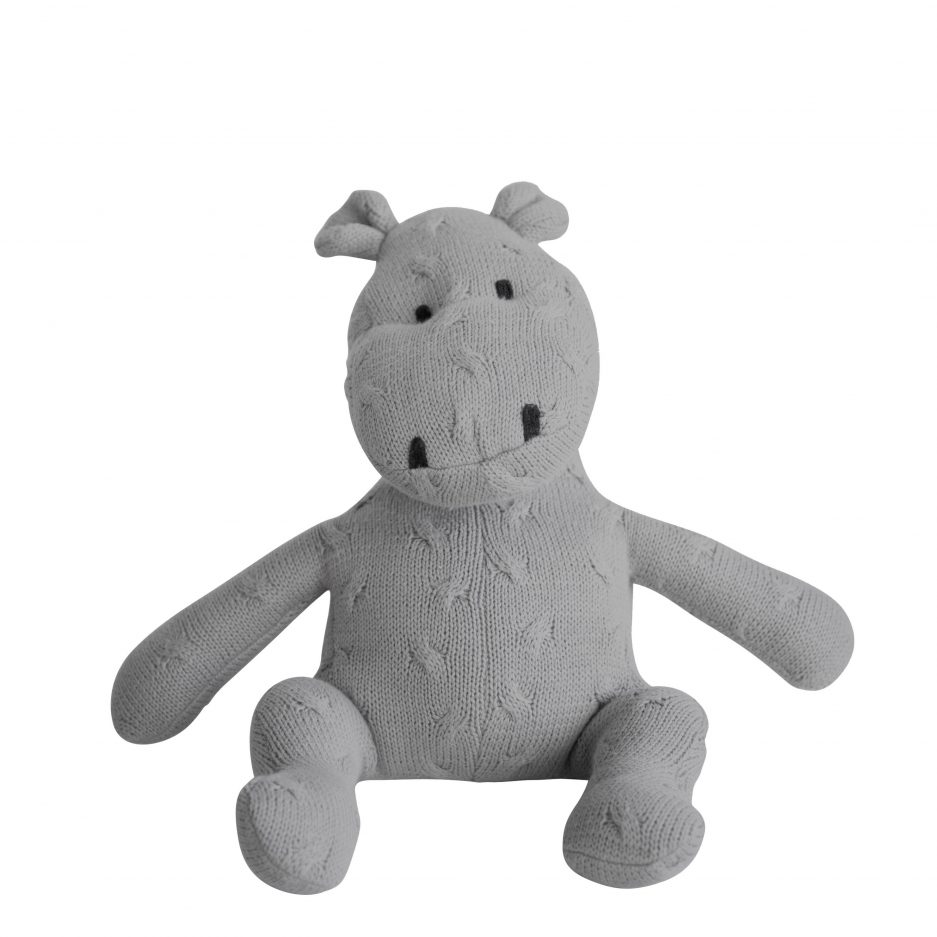 Hippopotame tricot gris