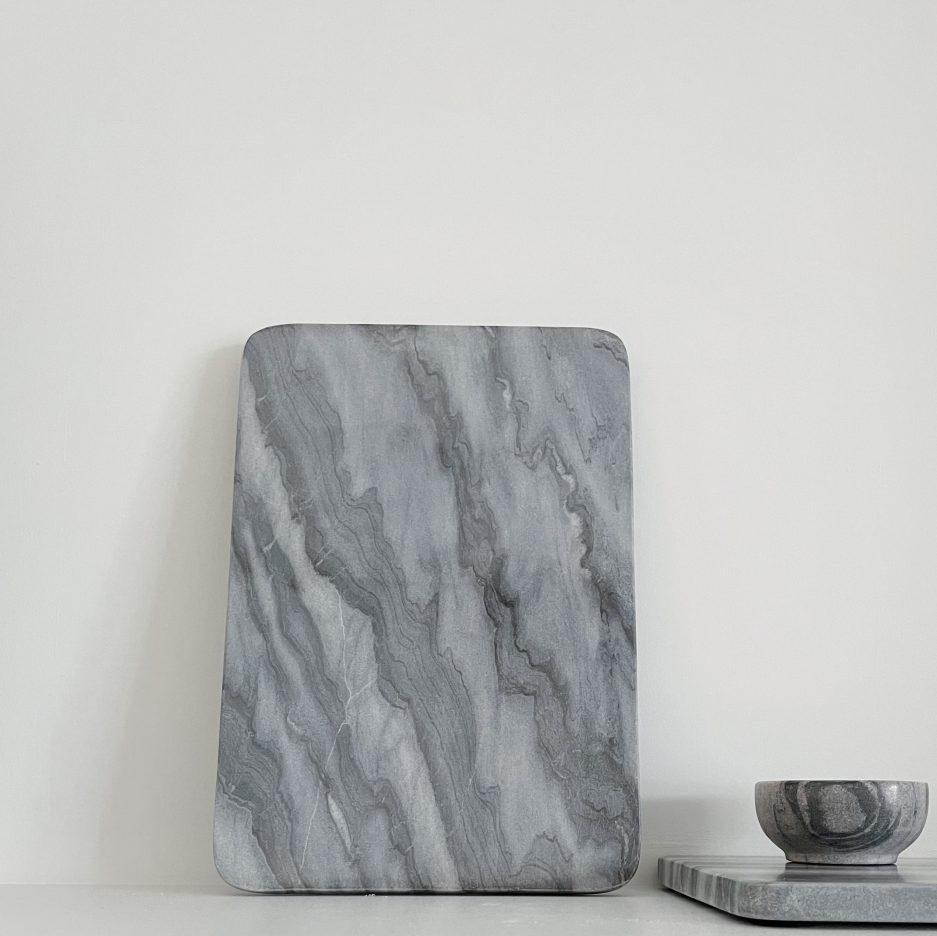 Plateau marbre gris