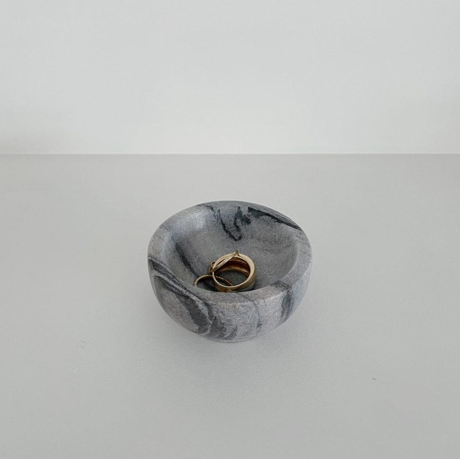 Mini bol en marbre gris