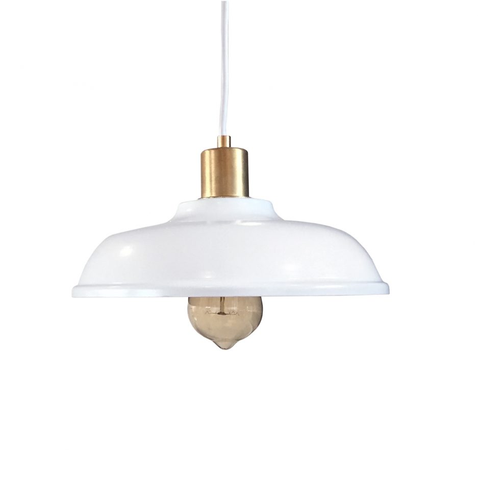 Lampe blanche et or