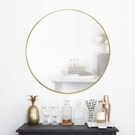 Miroir rond or