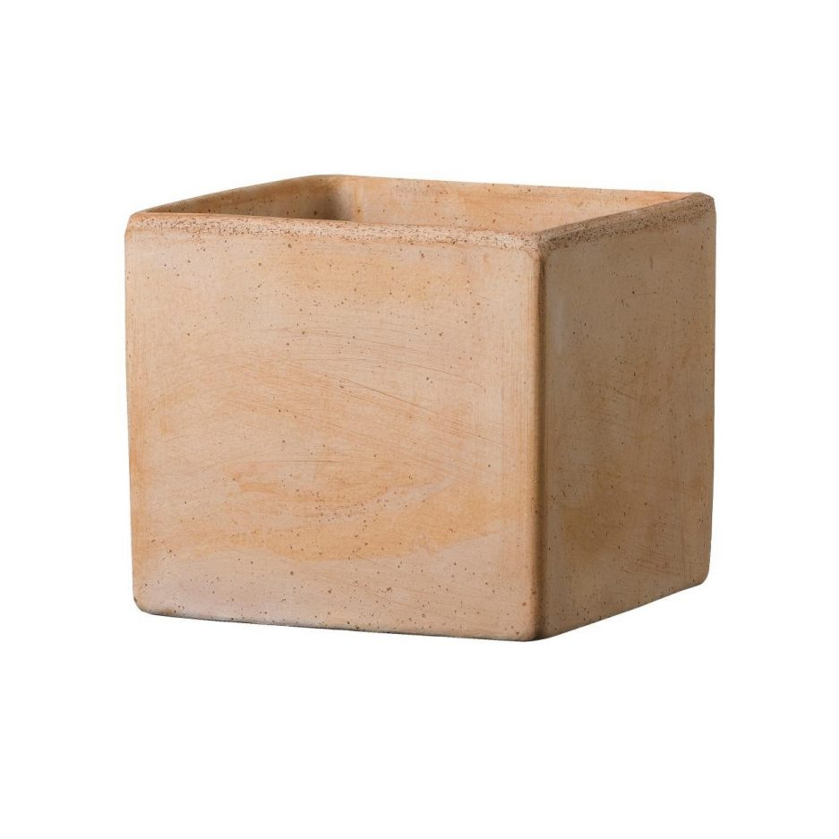 Pot carré terra cotta