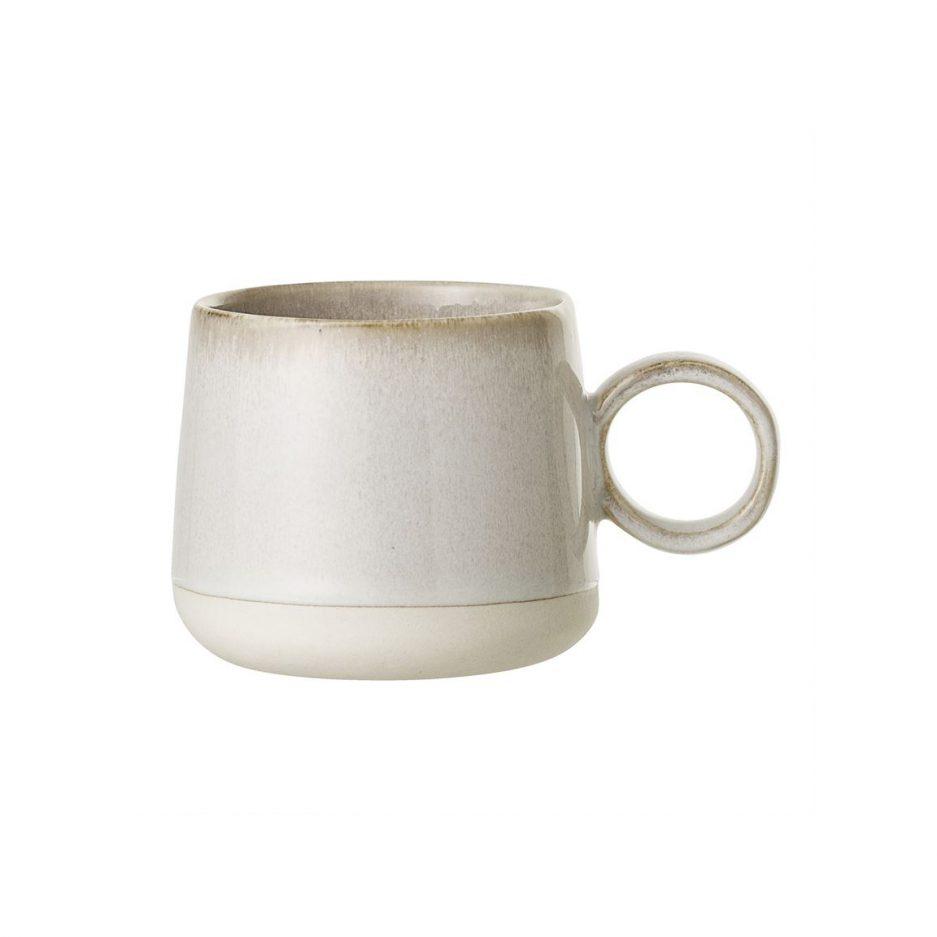 Tasse grès crème vintage