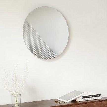 Miroir quart strié