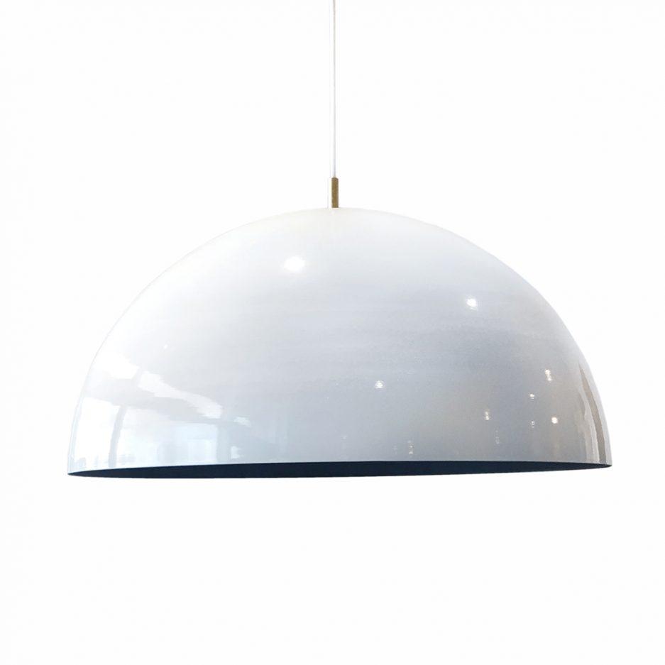 Lampe dome blanc