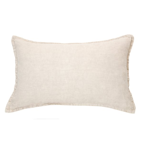 Coussin lin stone wash naturel