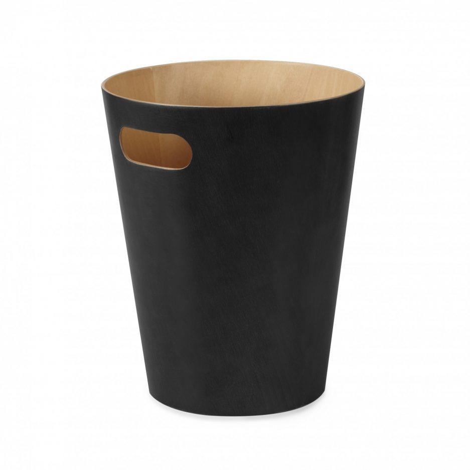 Poubelle en bois extérieure noir