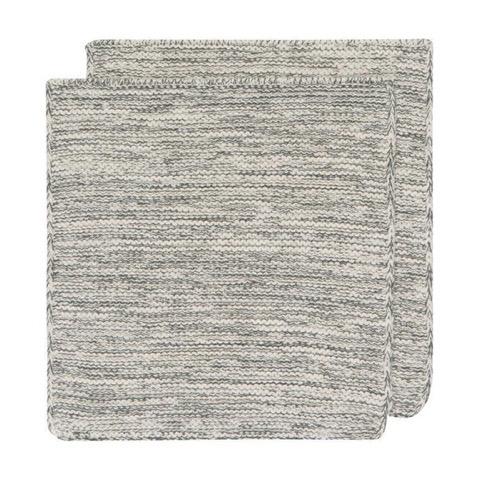 Lavettes tricotées grises (2)