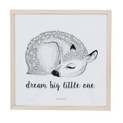 Cadre en bois Dream big little one